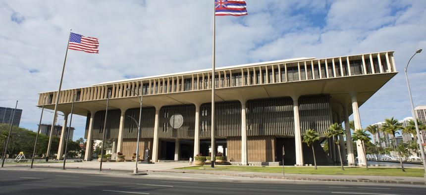 Hawaii's State Capitol in Honolulu.