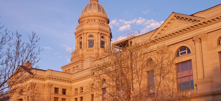 The Wyoming State Capitol in Cheyenne.