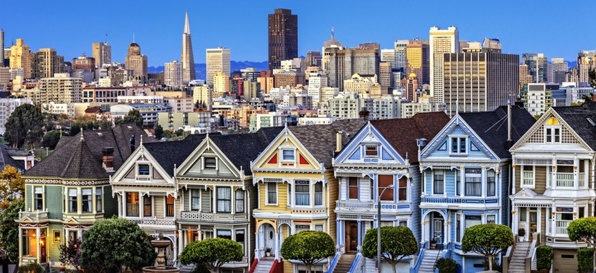 San Francisco's housing prices are particularly high.