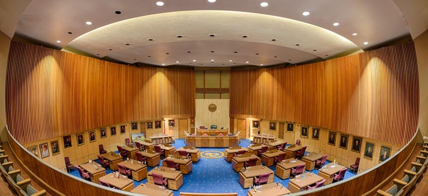 The Arizona Senate chamber.