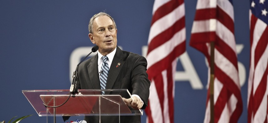 Michael Bloomberg, seen here in a 2012 file photo from when he was mayor of New York City.