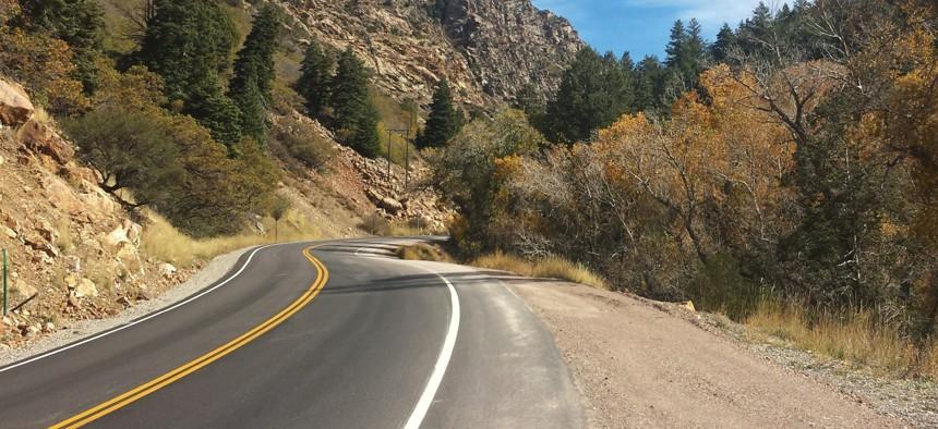 Utah State Route 190 snakes its way through Big Cottonwood Canyon.