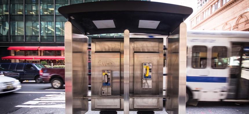 A New York City payphone