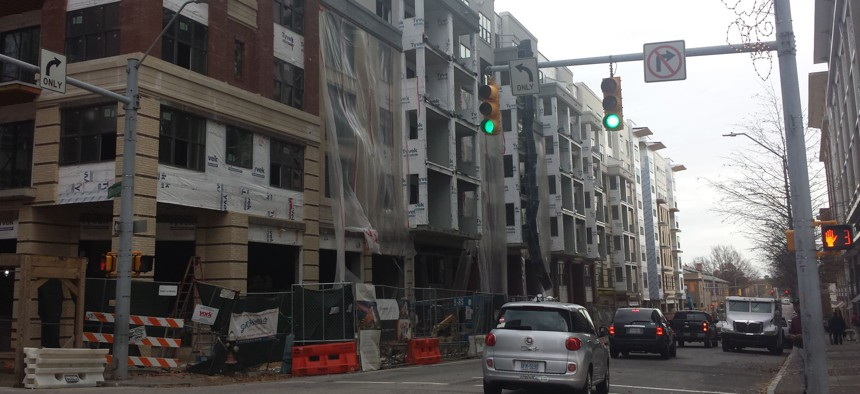 Construction in downtown Raleigh, North Carolina