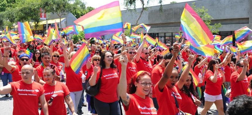Los Angeles' LGBT Pride Parade in 2015 in Hollywood.