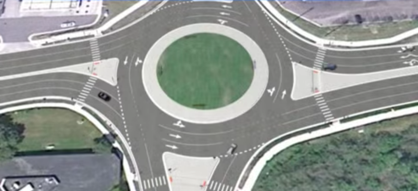 It's a roundabout!