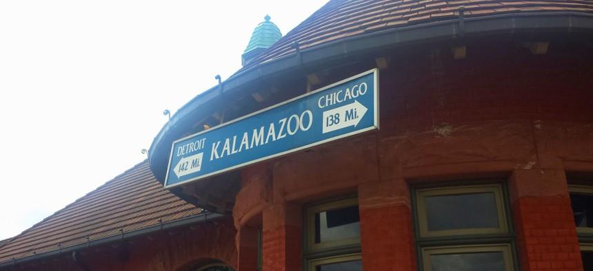 Kalamazoo's Amtrak station is part of the Southwest Michigan city's intermodal transportation center.
