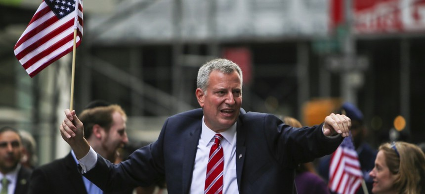 New York Mayor Bill de Blasio is one of several mayors who have promised to protect their city's undocumented immigrants.