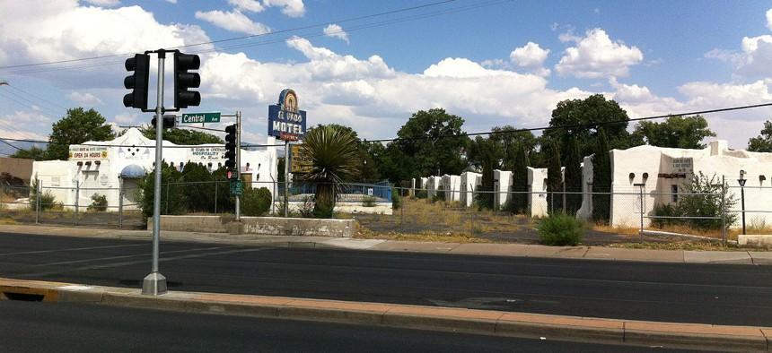 The El Vado Motel site in Albuquerque, New Mexico.