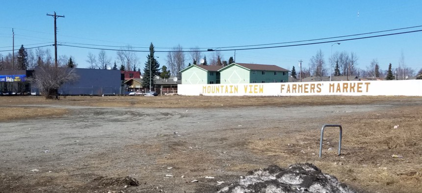 The Mountain View Farmers Market is hosted on this two-acre vacant lot in Anchorage, Alaska.