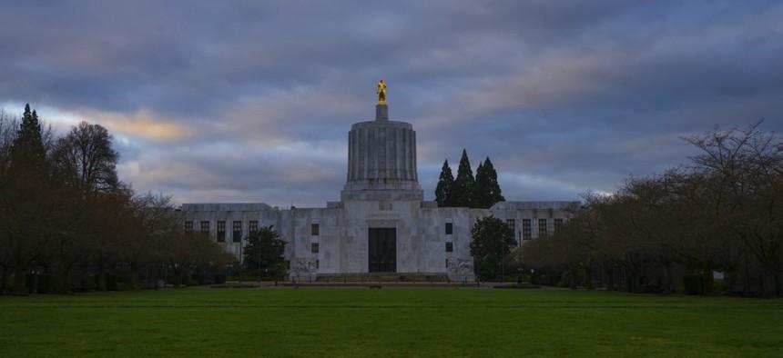 The Oregon Capitol Building.
