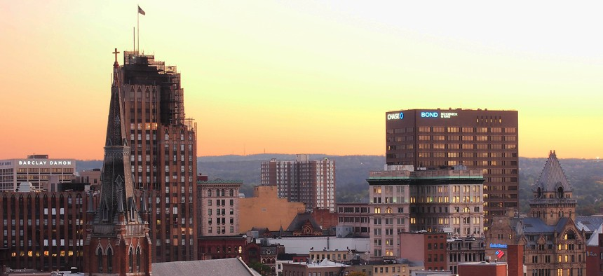 View looking south of Syracuse, New York.