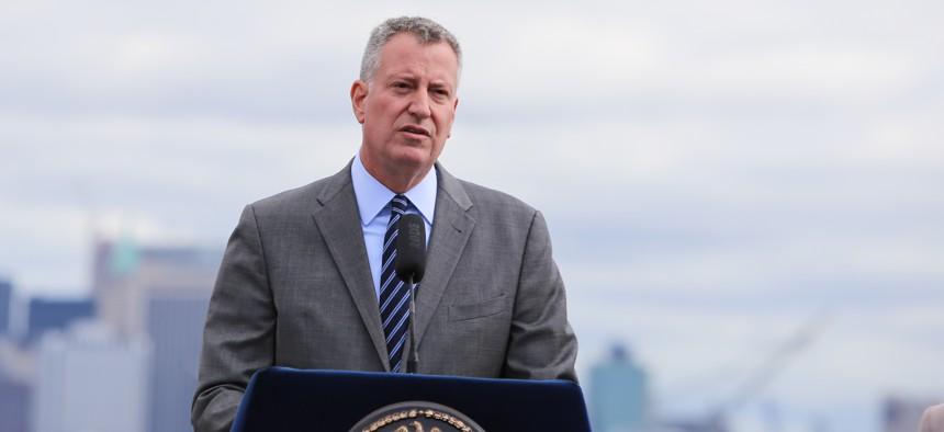 New York City Mayor Bill de Blasio.