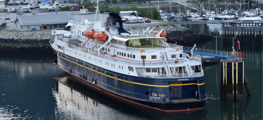 Matanuska of the Alaska Marine Highway ferry system prepares to sail from Skagway, Alaska.