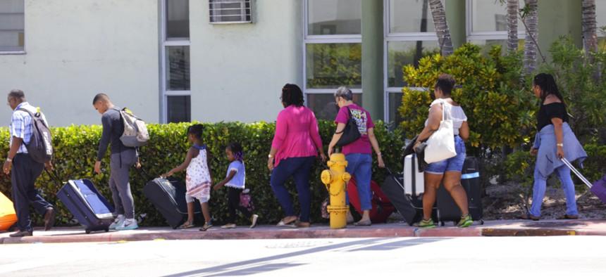 People evacuate Miami ahead of Hurricane Irma.