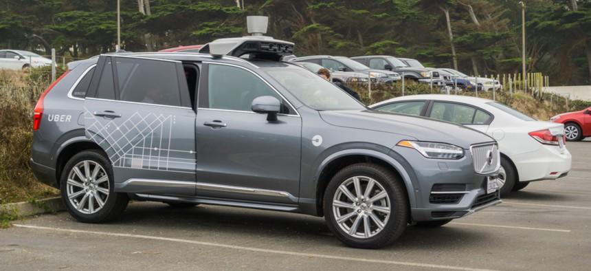 An Uber self-driving car in San Francisco
