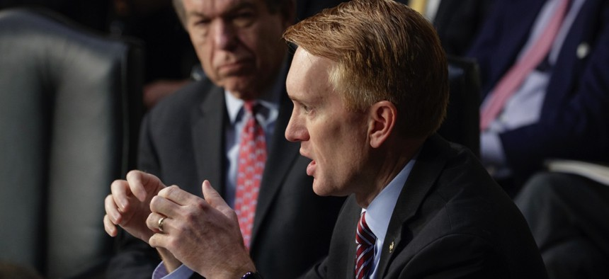 """Senator James Lankford of Oklahoma is pushing for a """"backstop"""" in the GOP tax-cut bill."""
