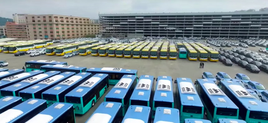 Electric buses are being rolled out in Shenzhen, China on a massive scale.