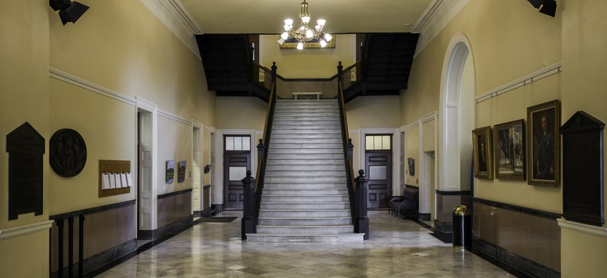 The interior of Maine's State House building in Augusta
