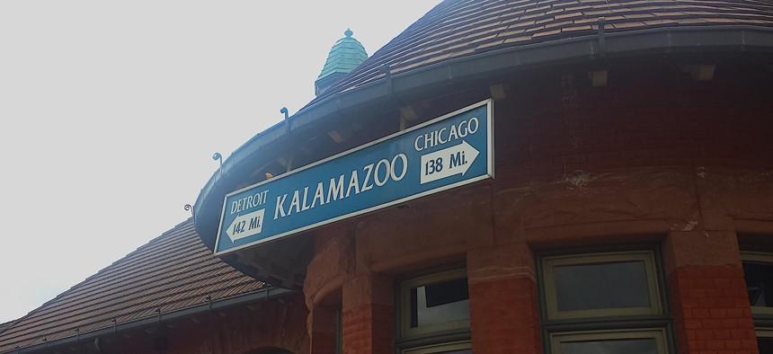 The Amtrak station in Kalamazoo, Michigan