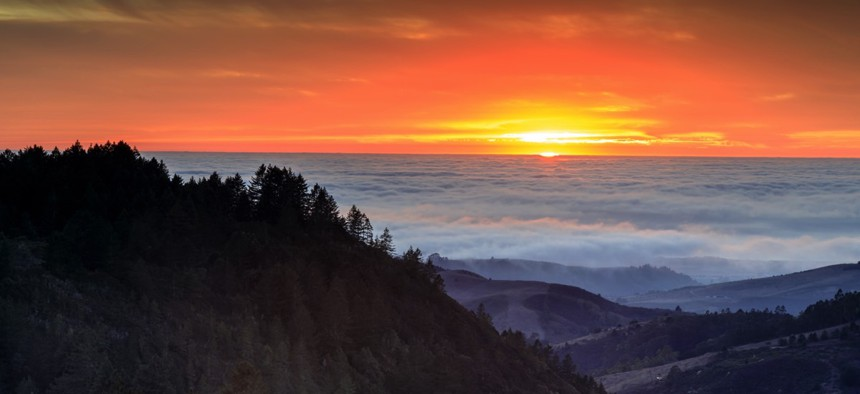 The Purisima Creek Redwoods Open Space Preserve near Woodside, California