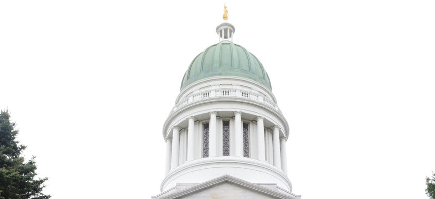 The Maine Statehouse in Augusta