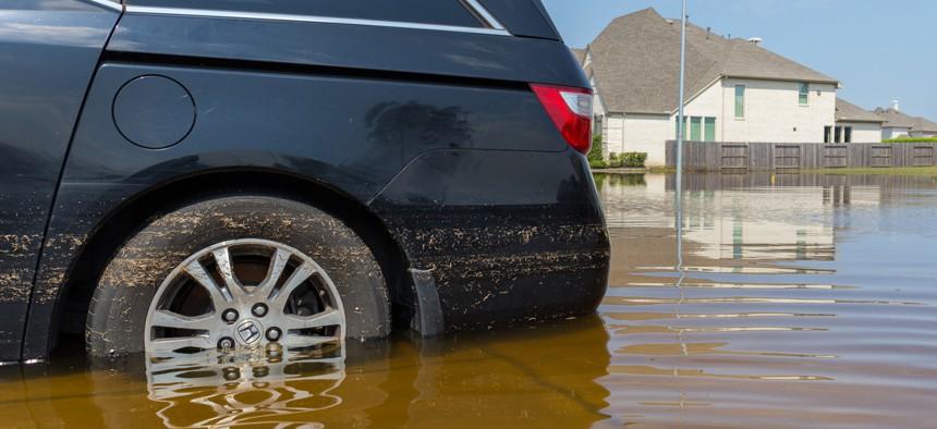 Flooding in Missouri City, Texas following Hurricane Harvey on Sept. 1, 2017.