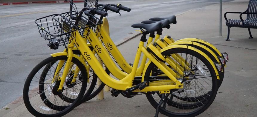 Ofo bikes in Dallas