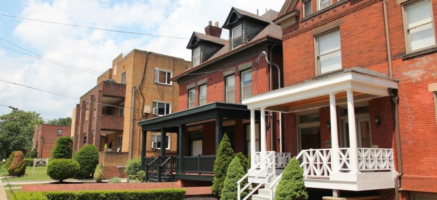 Homes in Pittsburgh's Shadyside neighborhood.