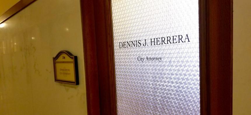 The office of San Francisco City Attorney Dennis Herrera in San Francisco City Hall.