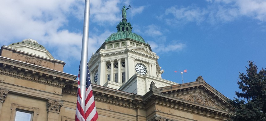 The Wyandot County Courthouse in Upper Sandusky, Ohio