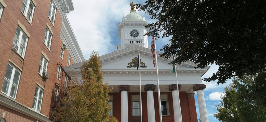 The Franklin County Courthouse, in Chambersburg, Pa.
