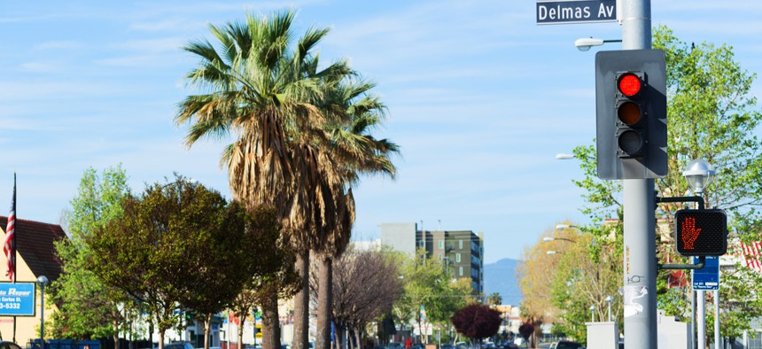 A street view in downtown San Jose.