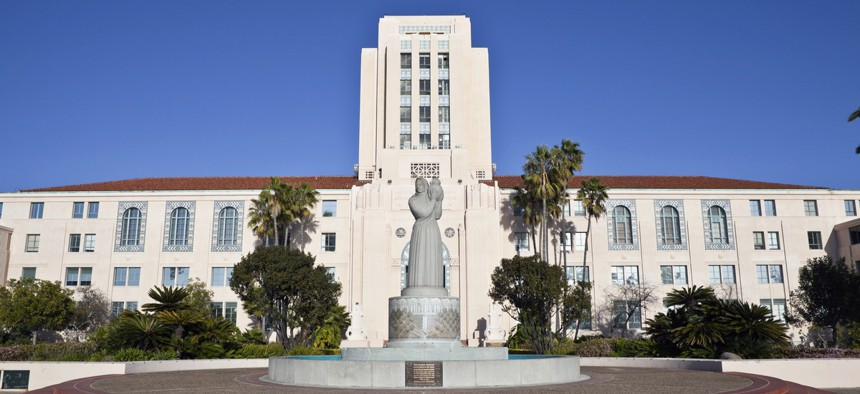 The San Diego County Administration Building.