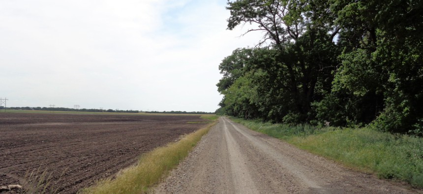 A rural road near Emporia, Kansas