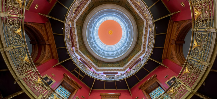 The Rotunda in the New Jersey Statehouse in Trenton.
