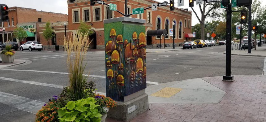 """""""Electric Jelly"""" at the corner of 6th & Main streets in downtown Boise, Idaho"""