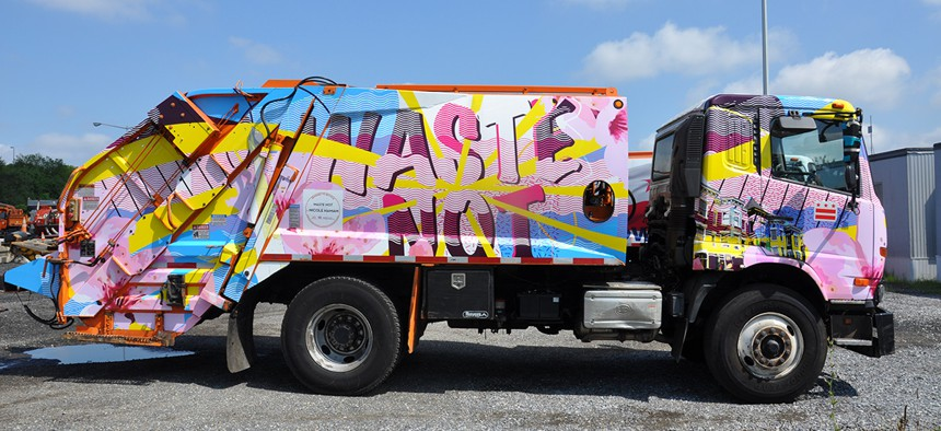 Fifteen trucks were wrapped this year.