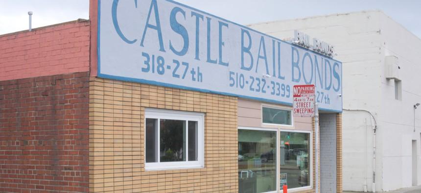 A bail bond office in 2016 in Richmond, California.