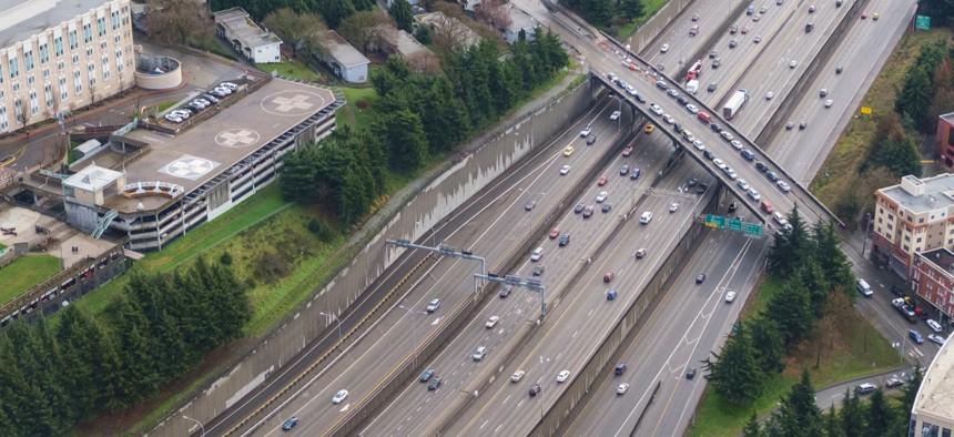 Interstate 5 near downtown Seattle