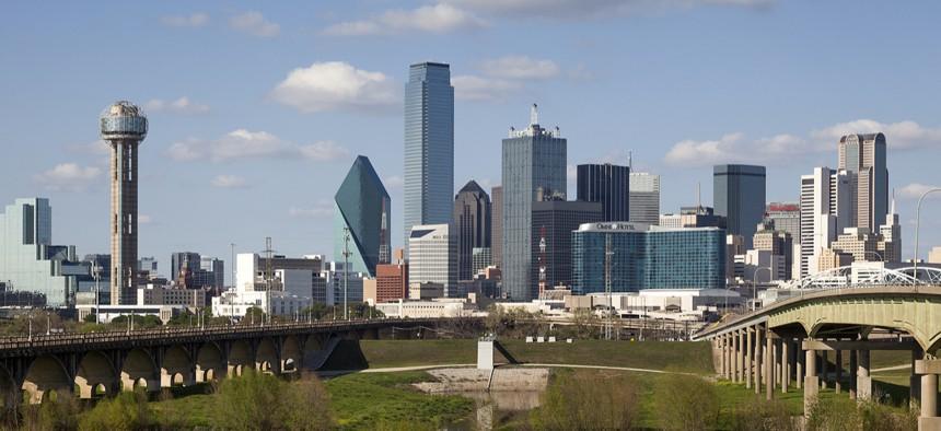 A View of Skyline Dallas on March 31, 2013 in Dallas, Texas.