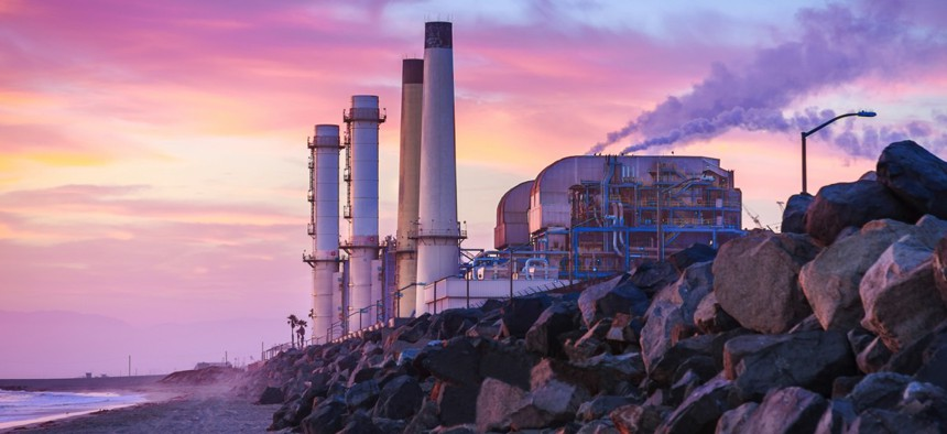 A power plant in El Segundo, California.