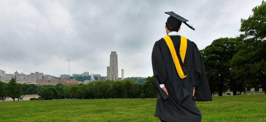 The report calculates the difference between the share of people with college education and the share of jobs that typically require that much education.
