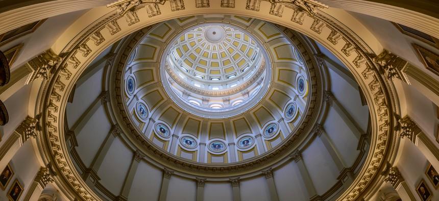 The Rotunda of the Colorado State Capitol in Denver.