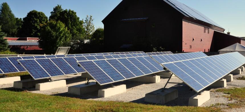 Solar panels in Hancock, Massachusetts