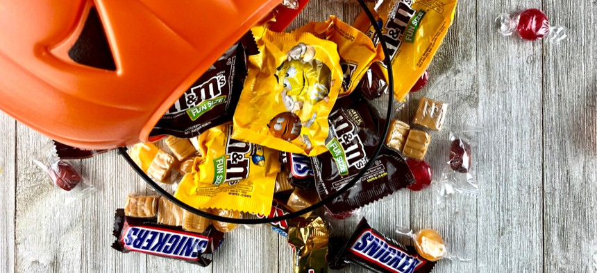 Planned events include candy giveaways at fire departments and police precincts.