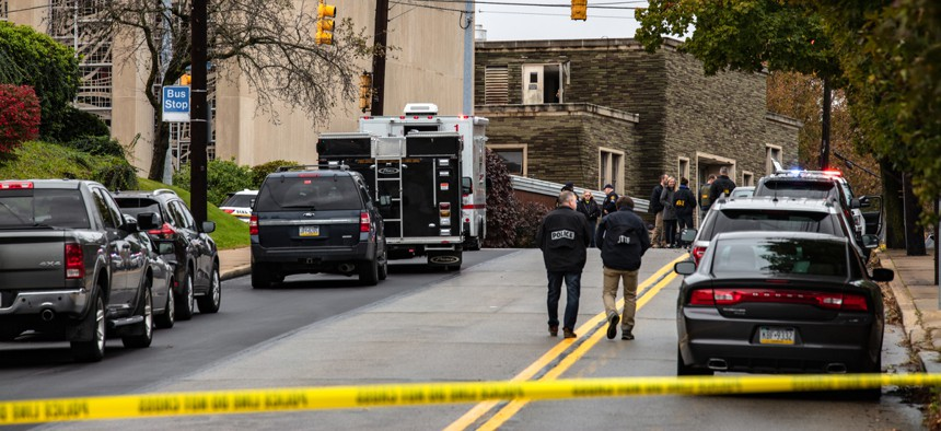 The Tree of Life synagogue in Pittsburgh's Squirrel Hill neighborhood was the scene of mass shooting on Saturday.