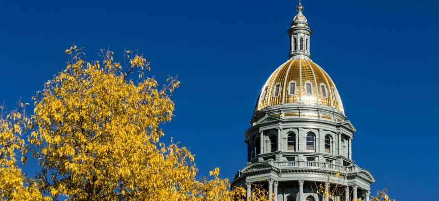 The Colorado state capitol.