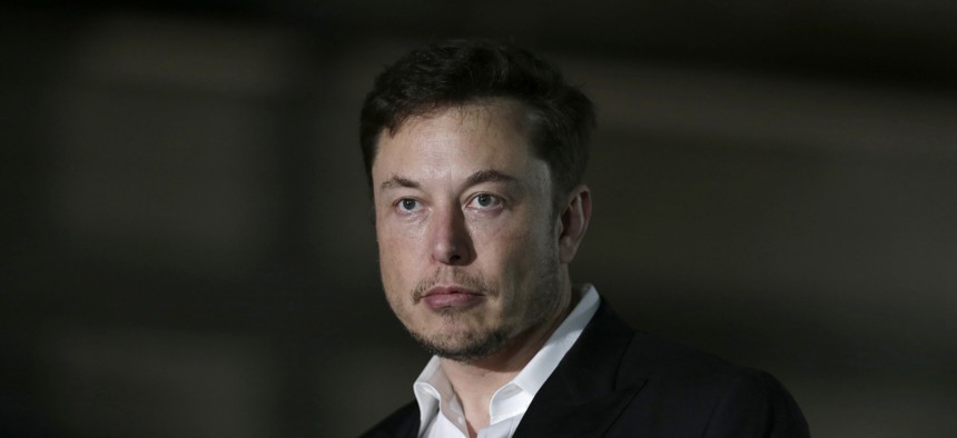 In this June 14, 2018, file photo, Tesla CEO and founder of the Boring Company Elon Musk speaks at a news conference in Chicago.