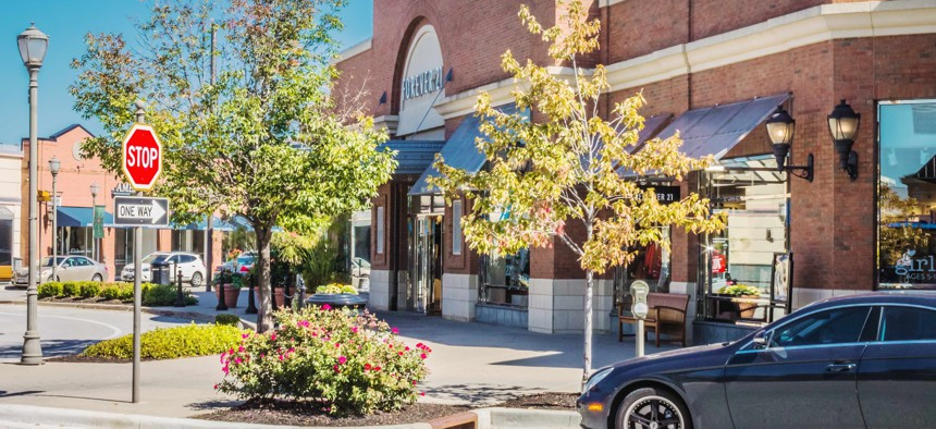 The Zona Rosa shopping center in Platte County, Missouri.